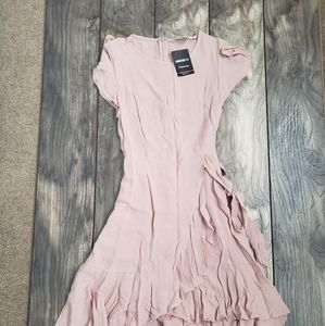 Soft pink mini dress S nwt